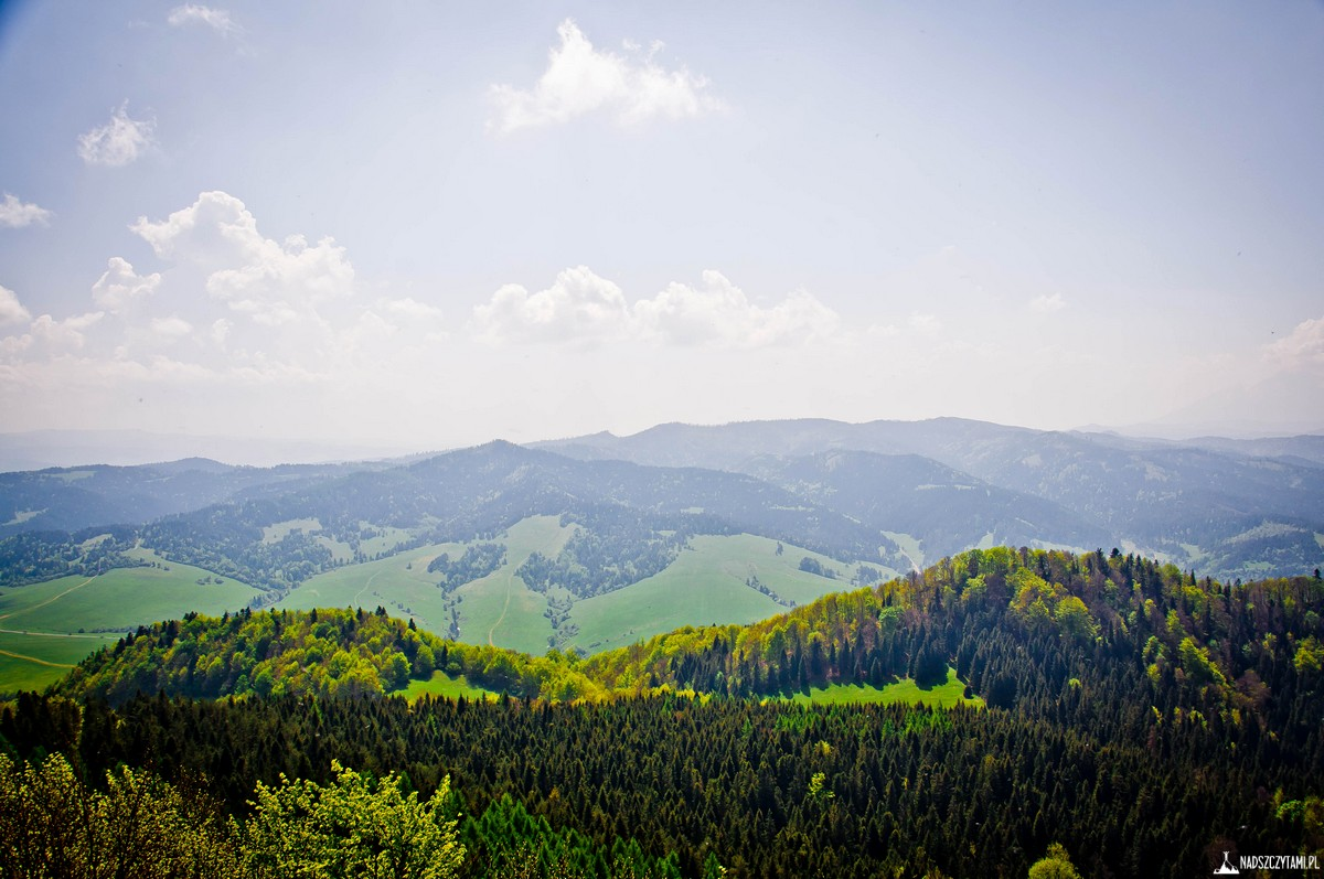 Wysoka panorama ze Szczytu