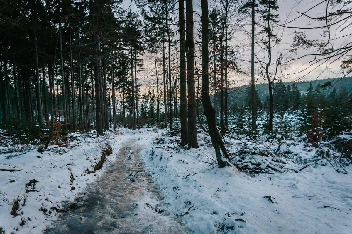Góry Sowie w Sylwestra (Wielka Sowa, Kalenica)
