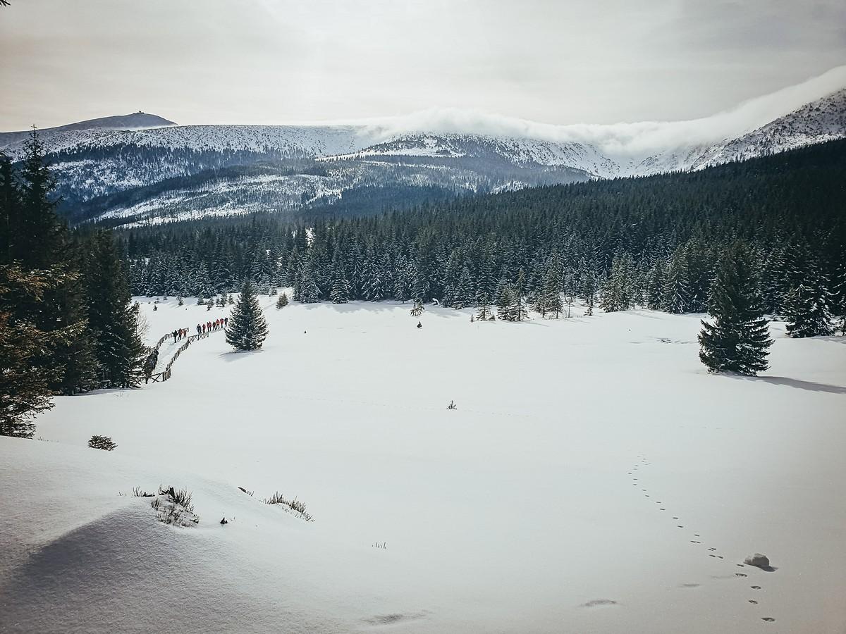 Piękny widok na Śniezkę