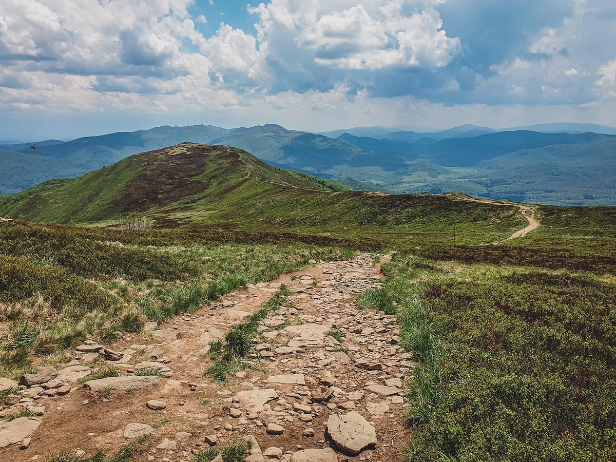 Piękne krajobrazy w Bieszczadach