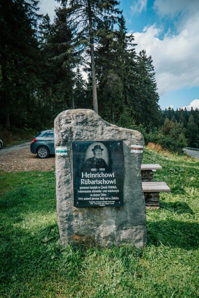 Kamień Rübartscha - Góry Orlickie