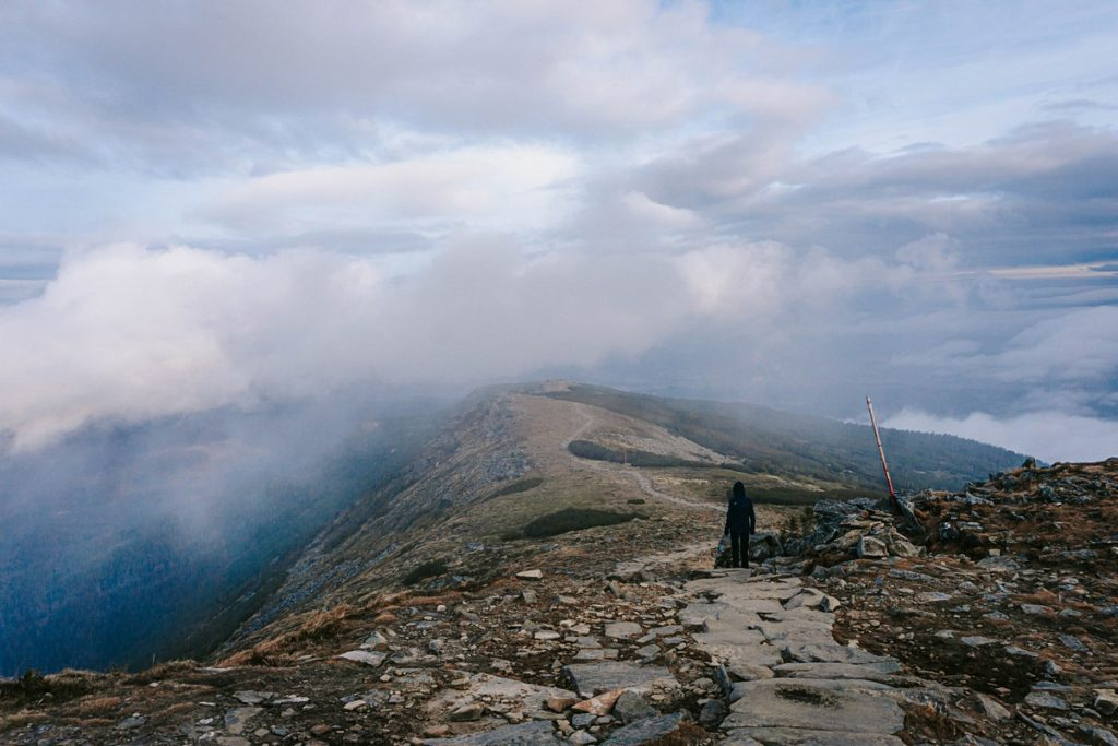 Babia Góra wyjście z chmur
