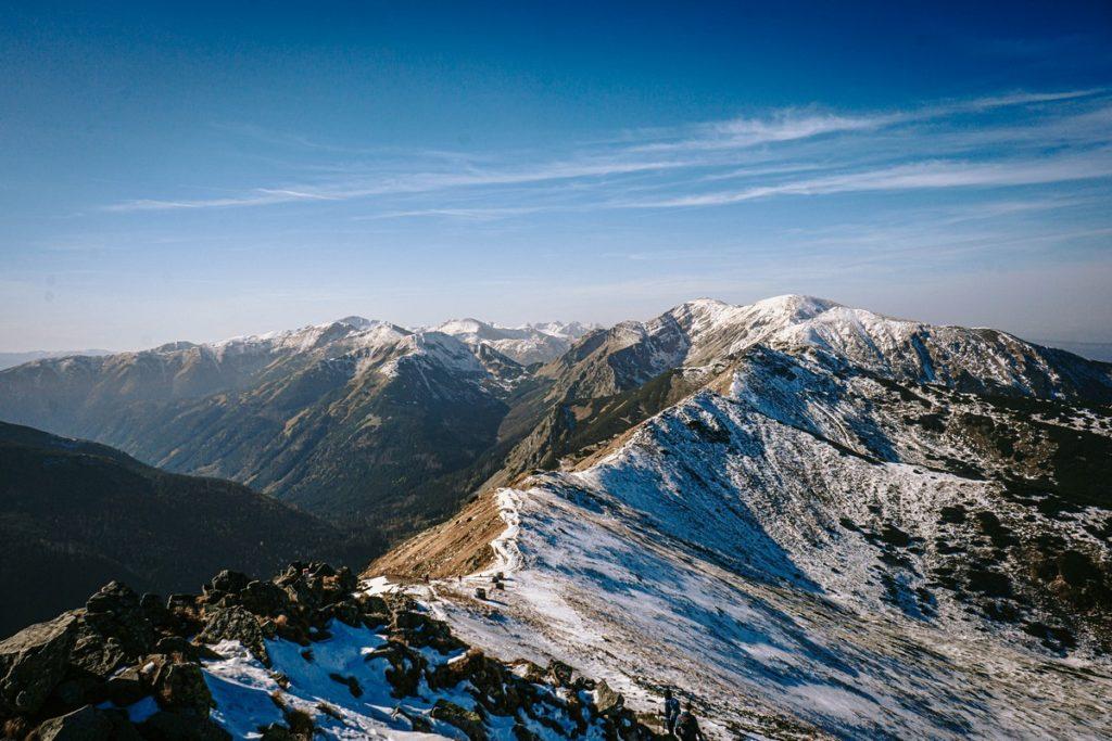 Panorama Tatry trasa z Kasprowego Wierchu