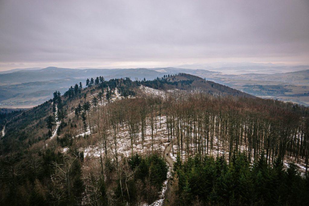 Panarama z Wieży Widokowej na Kłodzkiej Górze